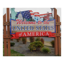 Welcome to the USA Poster