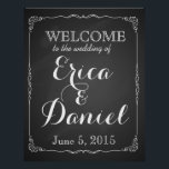 "welcome to the wedding of print sign chalkboard<br><div class=""desc"">&quot;Welcome to our wedding&quot; in a  chalkboard design print</div>"