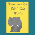 Welcome to the wild world invitation