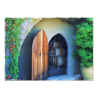 """Welcome to the Winery 5"""" X 7"""" Invitation Card"""
