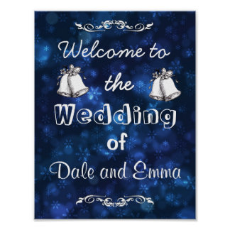 Welcome to the Winter Wedding of Add Names Poster