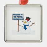 Welcome To The Winter Wonderland Christmas Tree Ornament