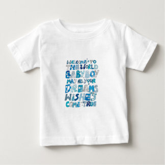 Welcome To The World Baby Boy Baby T-Shirt