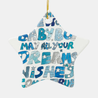 Welcome To The World Baby Boy Ceramic Ornament