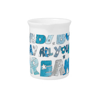Welcome To The World Baby Boy Drink Pitcher