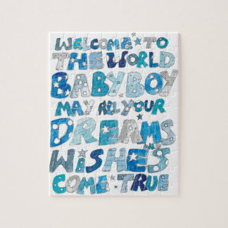 Welcome To The World Baby Boy Jigsaw Puzzle
