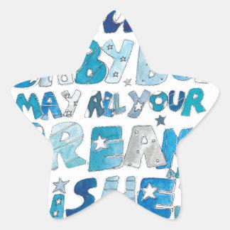 Welcome To The World Baby Boy Star Sticker