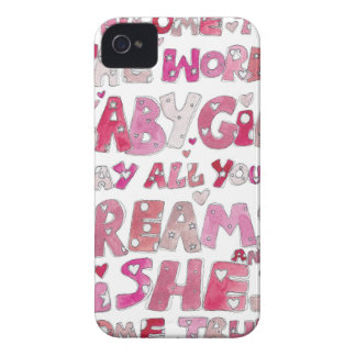 Welcome To The World Baby Girl iPhone 4 Case-Mate Cases