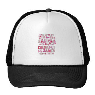 Welcome To The World Baby Girl Trucker Hat