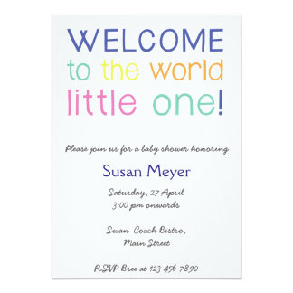 Welcome to the world little one baby shower invite