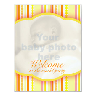 Welcome to the world party photo invitation card