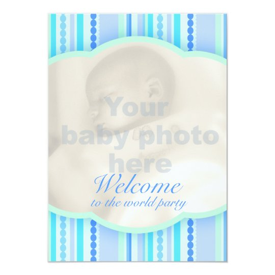 Welcome to the world photo baby invitation card