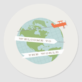 Welcome to the World Sticker - Red