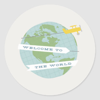 Welcome to the World Sticker - Yellow
