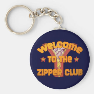 Welcome to the Zipper Club Basic Round Button Keychain