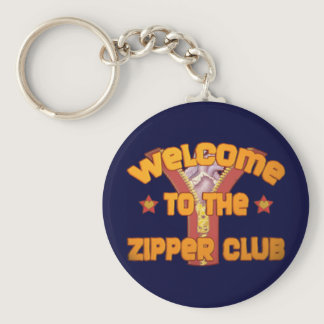 Welcome to the Zipper Club Keychain