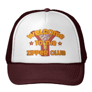 Welcome to the Zipper Club Mesh Hats