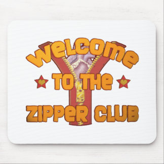 Welcome to the Zipper Club Mouse Pad