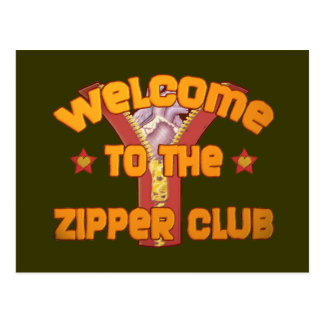 Welcome to the Zipper Club Postcard
