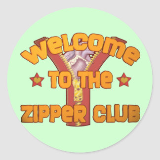 Welcome to the Zipper Club Sticker