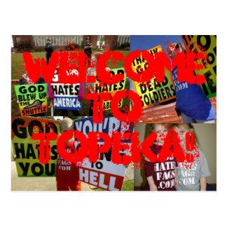 Welcome To Topeka Postcard