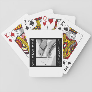 Welcome to Up North - Black Flies Playing Cards