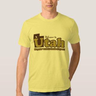 "Welcome to Utah Parody humorous ""mr funny"" Tee Shirt"