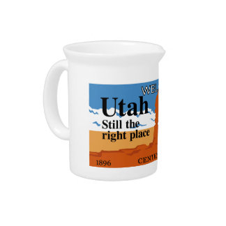 Welcome to Utah - USA Drink Pitcher