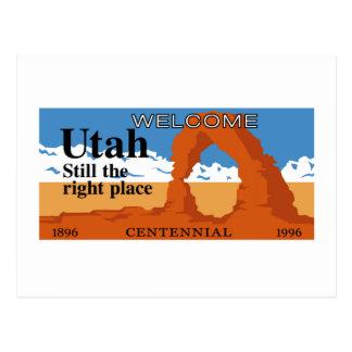 Welcome to Utah - USA Postcard