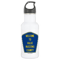 Welcome To Value Investing County (Sign) 18oz Water Bottle