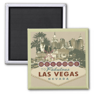 Welcome to Vegas 2 Inch Square Magnet