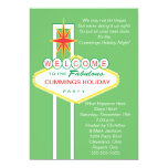 """Welcome To Vegas Holiday Party Invitation 5"""" X 7"""" Invitation Card"""