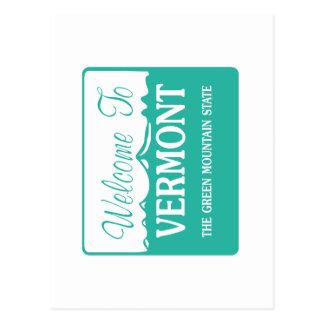 Welcome to Vermont - USA Postcard