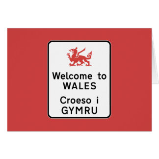 Welcome to Wales Sign, UK Card