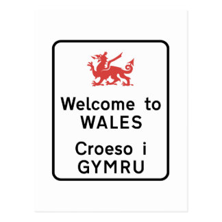Welcome to Wales Sign, UK Postcard