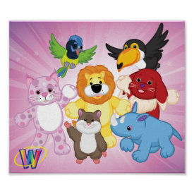 Welcome to Webkinz! Poster at Zazzle