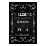 Welcome to Wedding Halloween Spider Poster Sign
