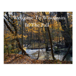 Welcome To Wisconsin In The Fall Postcard
