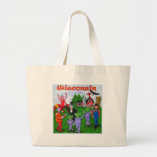 Welcome to Wisconsin Large Tote Bag