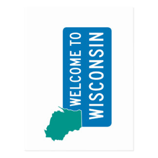 Welcome to Wisconsin - USA Postcard