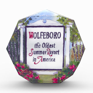 Welcome to Wolfeboro NH Sign Acrylic Award