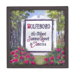 Welcome to Wolfeboro NH Sign Gift Box