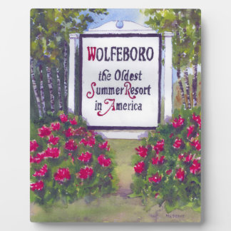 Welcome to Wolfeboro NH Sign Plaque