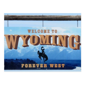 Welcome to Wyoming Postcard with 2015 Calendar
