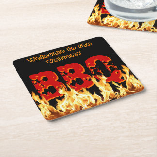 Welcome to [Your Name's] BBQ Square Paper Coaster