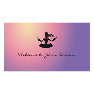 welcome to Your Nirvana Double-Sided Standard Business Cards (Pack Of 100)