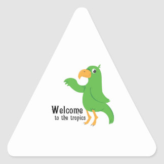 Welcome Tropics Triangle Stickers