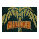 Welcome :  Vintage EmeralGold Stones Greeting Cards