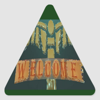 Welcome :  Vintage EmeralGold Stones Stickers