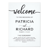 Welcome Wedding Ceremony Program Calligraphy